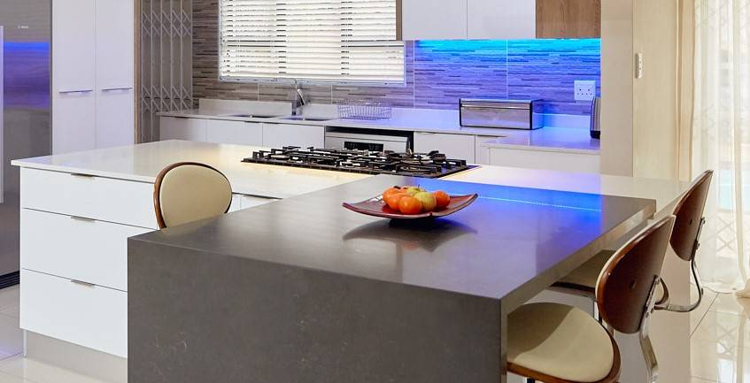 Piatra Grey and Sparkle worktops